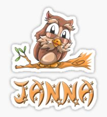 Janna Owl Sticker