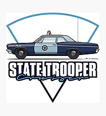 1968 State Trooper Cruiser, MA Photographic Print