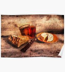 Bread, Wine and Camembert Poster