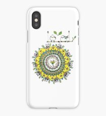 A Flower Mandala with Korean Crow-Tits iPhone Case/Skin