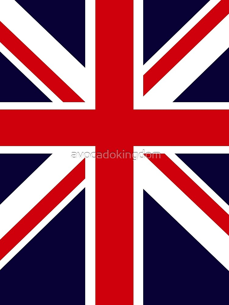 Rose Union Jack Great Britain Punk T shirt by avocadokingdom