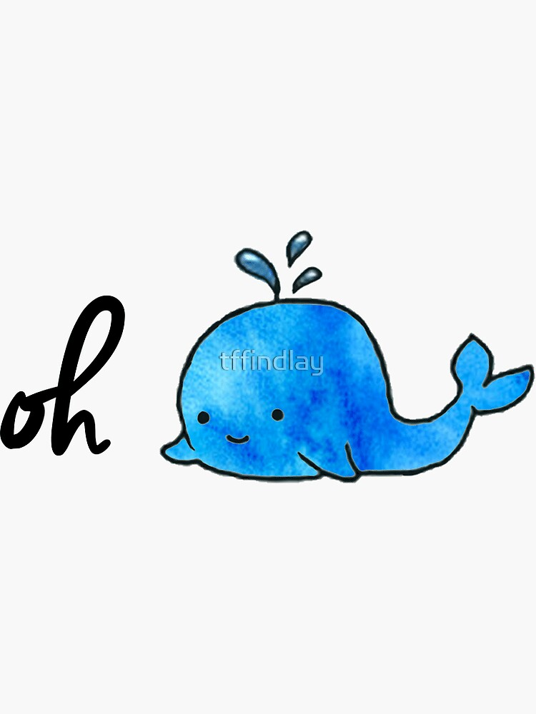 Oh Whale - Acuarela de tffindlay