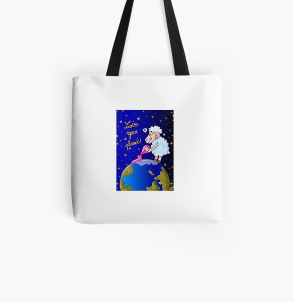 Love Your Planet Tote bag doublé