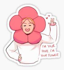 Pegatina BTS: HOBI FLOWER