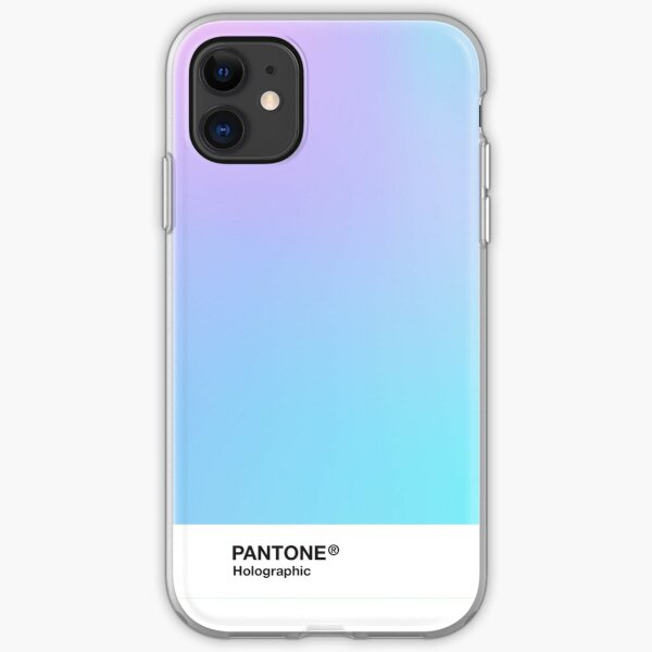 H.I.P.A.B - Holographic Iridescent Pantone Aesthetic Background 3 iPhone Soft Case