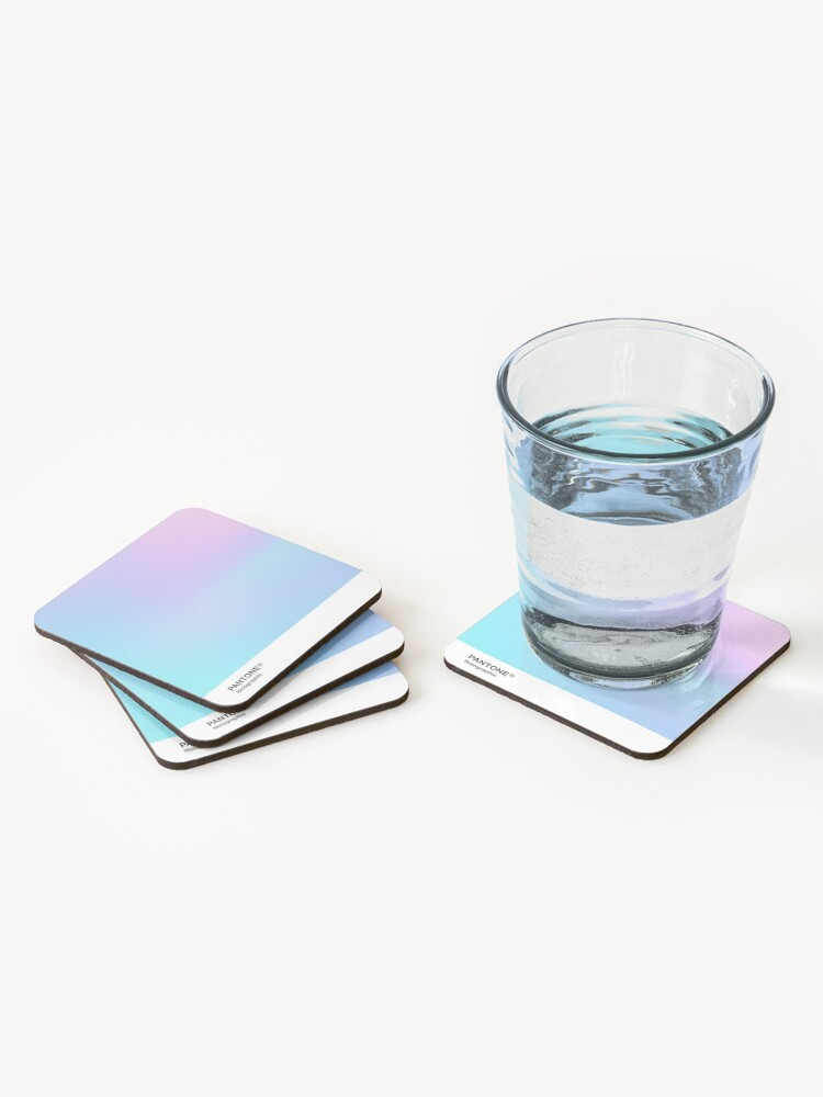 Alternate view of H.I.P.A.B - Holographic Iridescent Pantone Aesthetic Background 3 Coasters (Set of 4)