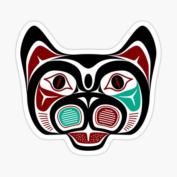Northwest Pacific coast Haida Kitty Sticker