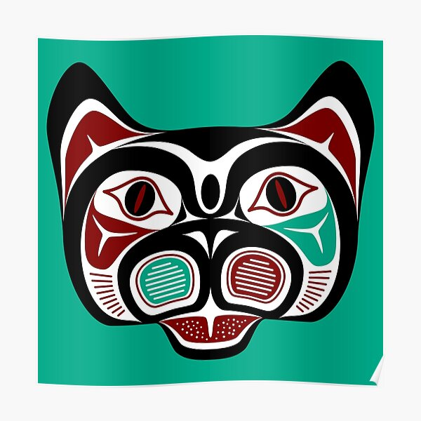 Northwest Pacific coast Haida Kitty Poster