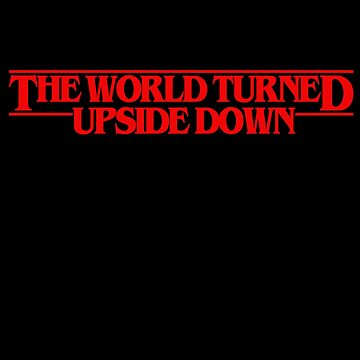The world turned upside down (red) by downeymore