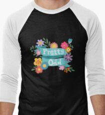 Pretty Odd Floral Banner Men's Baseball ¾ T-Shirt
