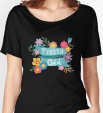 Pretty Odd Floral Banner Women's Relaxed Fit T-Shirt