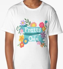 Pretty Odd Floral Banner Long T-Shirt