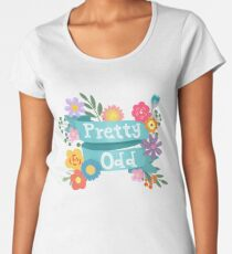 Pretty Odd Floral Banner Women's Premium T-Shirt