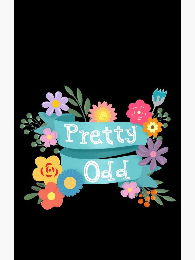 Pretty Odd Floral Banner by BunnyThePainter
