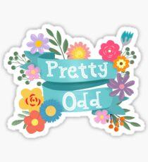 Pretty Odd Floral Banner Sticker