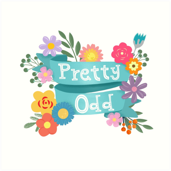 Pretty Odd Floral Banner by BunnyThePainter