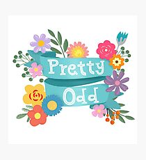 Pretty Odd Floral Banner Photographic Print