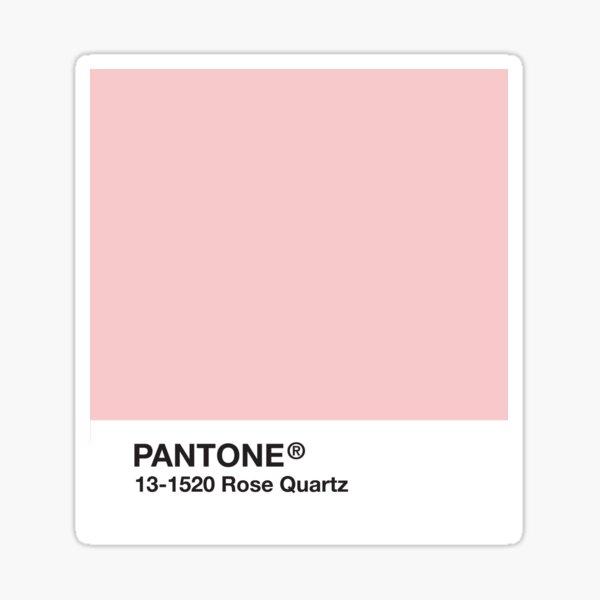 Pantone Series and Tumblr Vibes - Rose Quartz AKA Millennial Pink Sticker