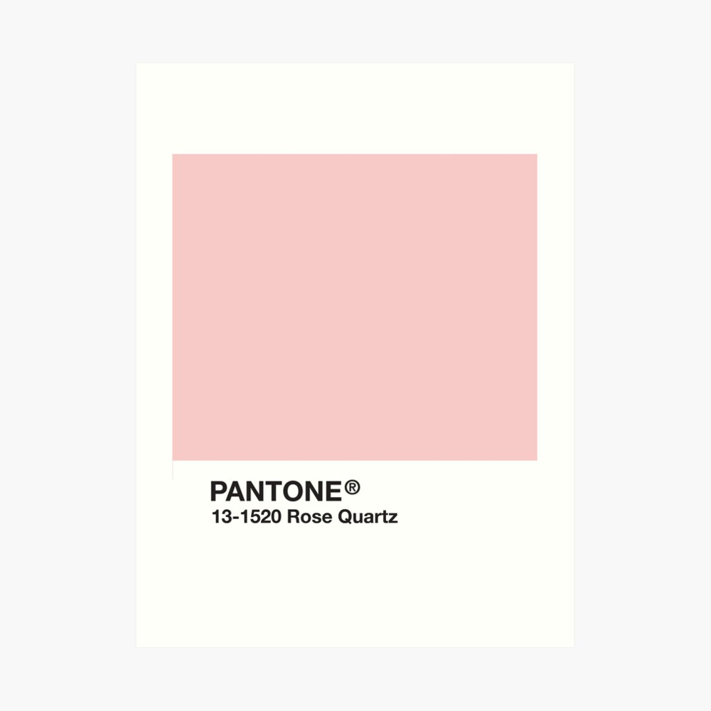 Serie Pantone y Tumblr Vibes - Rose Quartz AKA Millennial Pink Lámina artística