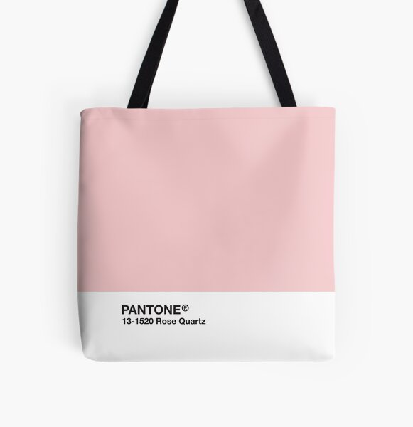 Pantone Series and Tumblr Vibes - Rose Quartz AKA Millennial Pink All Over Print Tote Bag