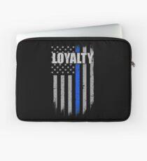 THIN BLUE LINE AMERICAN FLAG LOYALTY Laptop Sleeve