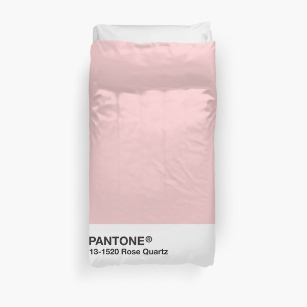 Pantone Series and Tumblr Vibes - Rose Quartz AKA Millennial Pink Duvet Cover