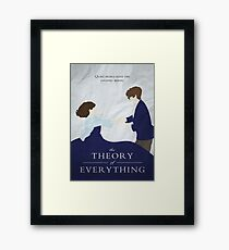 """The Theory of Everything - """"Quiet people have the loudest minds"""" Vector print/poster Framed Print"""