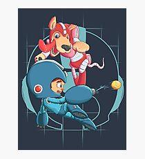 Mega Man and Rush Photographic Print