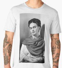 Black and White Frida Kahlo Men's Premium T-Shirt