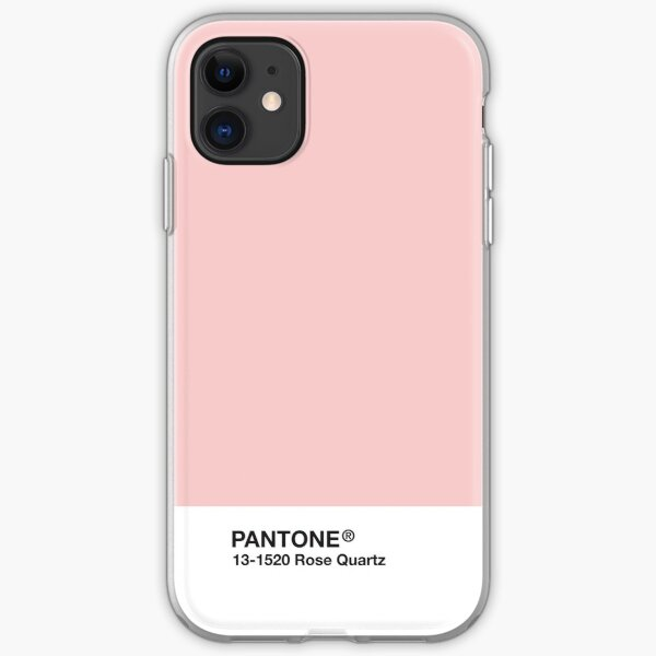 Pantone Series and Tumblr Vibes - Rose Quartz AKA Millennial Pink iPhone Soft Case
