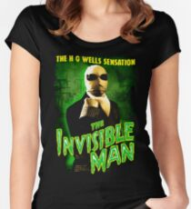 H G Wells The Invisible Man Movie T-Shirt Women's Fitted Scoop T-Shirt
