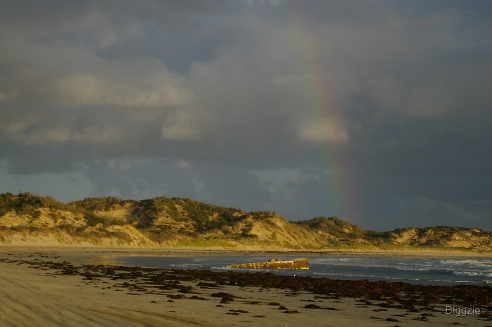 Shipwreck at the end of the Rainbow by Biggzie