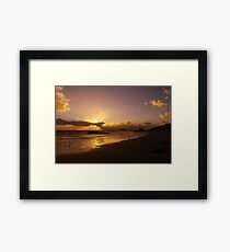 Sun Down of the New Year Framed Print
