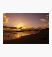 Sun Down of the New Year Photographic Print