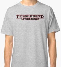 The world turned upside down (black) Classic T-Shirt
