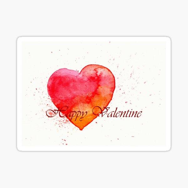 Happy Valentine - Gruß zum Valentinstag Sticker