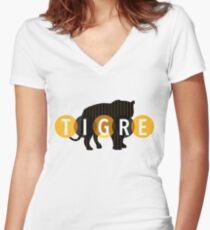 Tigre Women's Fitted V-Neck T-Shirt