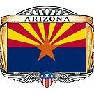 Arizona Art Deco Design with Flag by Cleave