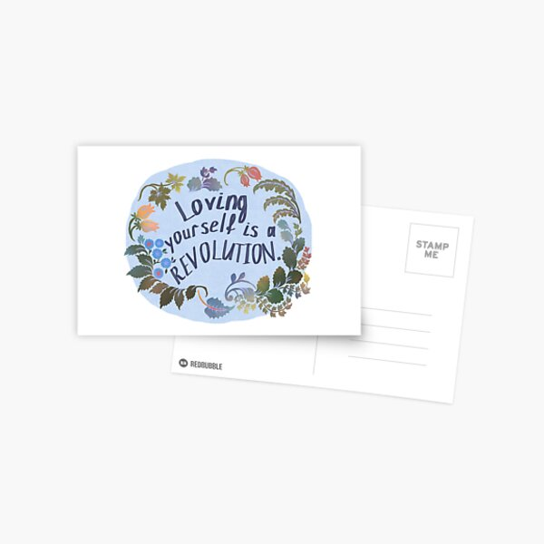 Loving Yourself Is A Revolution Postcard