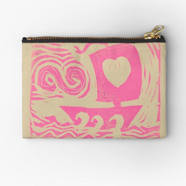 Love Sail...Boat in pink Zipper Pouch