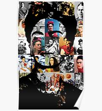 Kahlo-Collage Poster