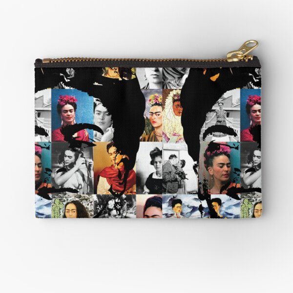Kahlo Collage Zipper Pouch