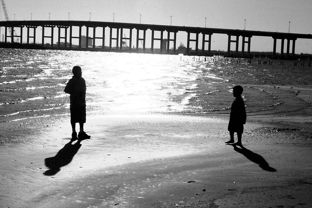 Silhouette of Brothers by Cora Wandel