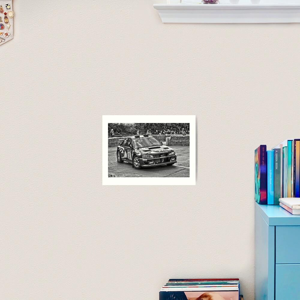 Retro Colin McRae Subaru Impreza WRX Sti Rally Car Art Print