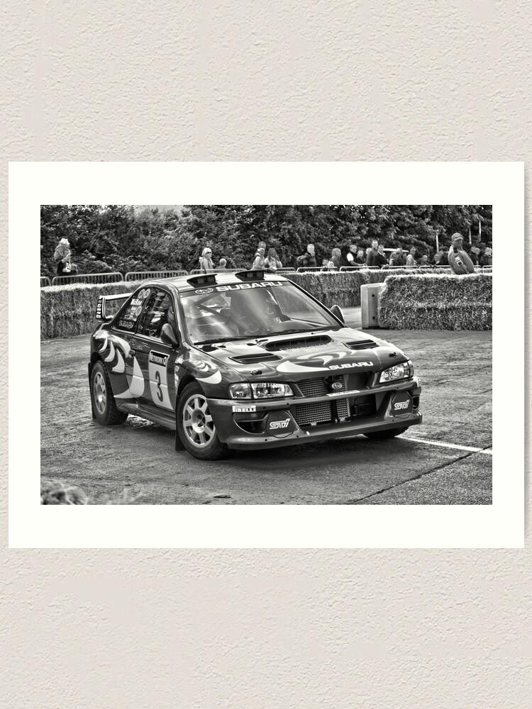 Alternate view of Retro Colin McRae Subaru Impreza WRX Sti Rally Car Art Print