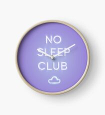 No Sleep Club Clock