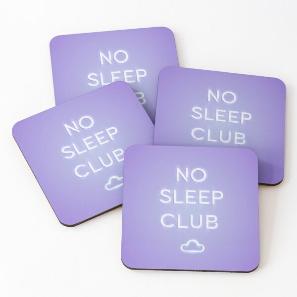 No Sleep Club Coasters (Set of 4)