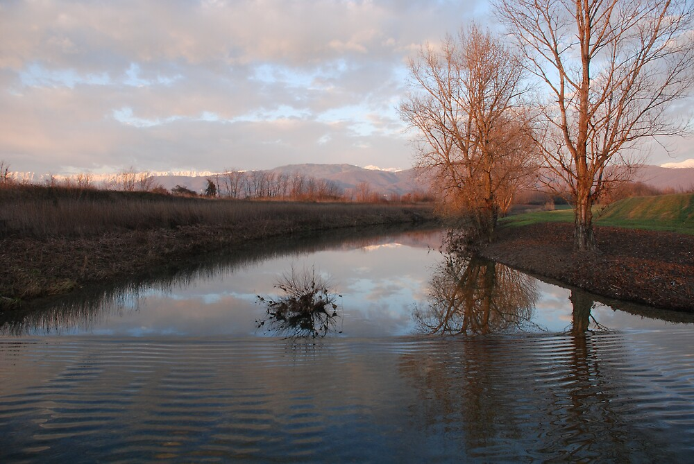 River with Ripples, Friuli by jojobob