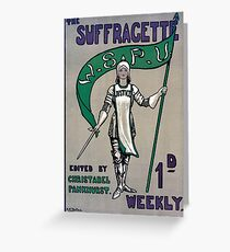 The Suffragette Greeting Card