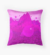 Purple Mountain Spheres Throw Pillow